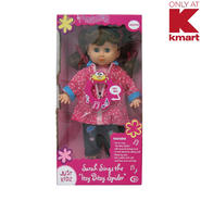 "Just Kidz Nursery Rhyme Doll - Sarah Sings the ""Itsy Bitsy Spider"" at Kmart.com"