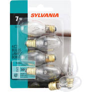 Sylvania Light Bulbs, C7, Clear, 7 W, 4 bulbs at Kmart.com