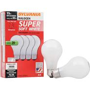 Sylvania Halogen Soft White Lamp A19-Medium Base 120V Light Bulb 53W Equivalent 75W - 4 Pack at Kmart.com