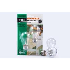 Sylvania Double Life Light Bulbs, Ceiling Fan, A15, Clear, 60 W, 2 bulbs at Kmart.com