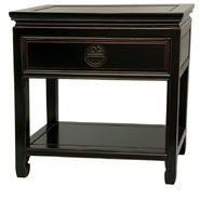 Oriental Furniture Rosewood Bedside Table - Antique Black at Kmart.com