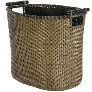 Oriental Furniture Rattan Laundry Hamper with Pole Handles at Kmart.com