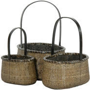 Oriental Furniture Rattan Round Handle Basket (Set of 3) at Kmart.com