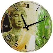 Yellow Draped Buddha Wall Clock
