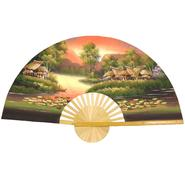 "Oriental Furniture Golden Village Wall Fan - (Size: 60""W x 35""H) at Kmart.com"