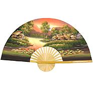 "Oriental Furniture Golden Village Wall Fan - (Size: 40""W x 24""H) at Kmart.com"