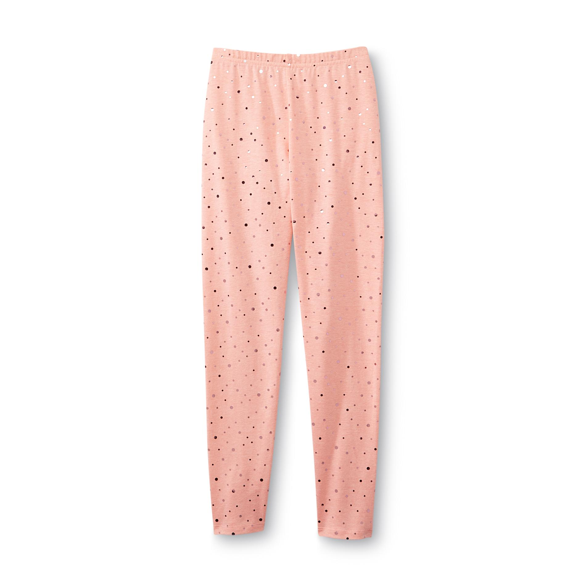 Basic Editions Girl's Disco Dot Leggings - Neon at Kmart.com