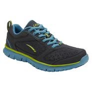 LA Gear Women's Running Shoe Shannon - Grey/Blue/Lime at Sears.com