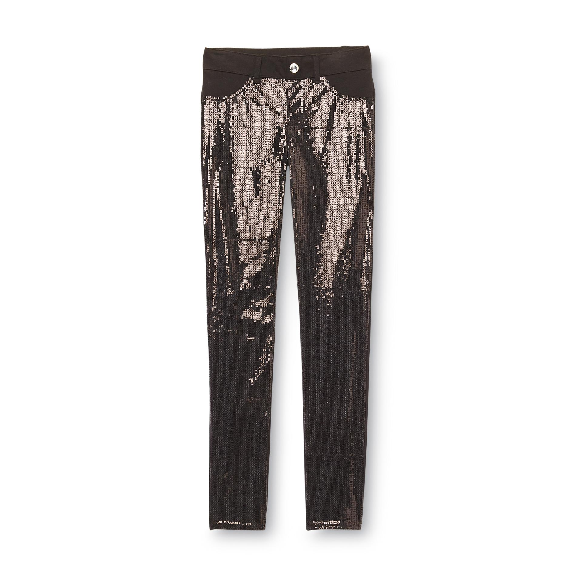 Piper Girl's Knit Jeggings - Sequined at Kmart.com