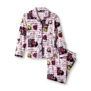 Joe Boxer Girl's Flannel Pajamas - Cats & Hearts at Kmart.com
