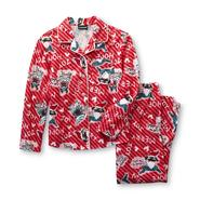 Joe Boxer Girl's Flannel Pajamas - Christmas Pug at Kmart.com