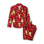 Joe Boxer Girl's Flannel Pajamas - Christmas Trees at Kmart.com