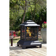 Fire Sense Black Powder Coated Steel Pagoda Patio Fireplace at Sears.com