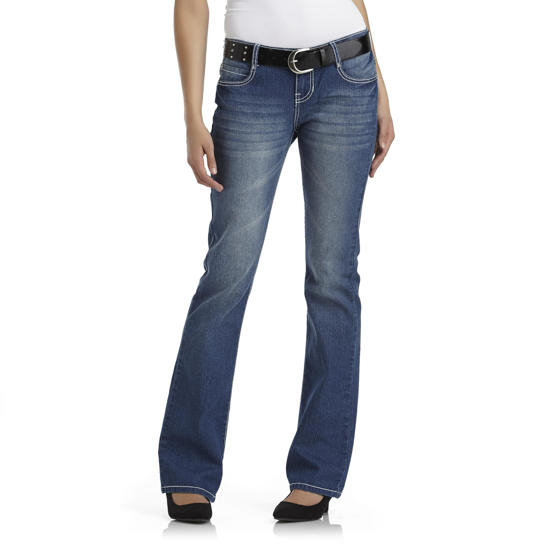 Bongo Junior's Boot Cut Jeans with Belt - Whiskering at Sears.com