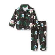 Joe Boxer Infant & Toddler Boy's Flannel Pajamas - Snow Monster at Kmart.com