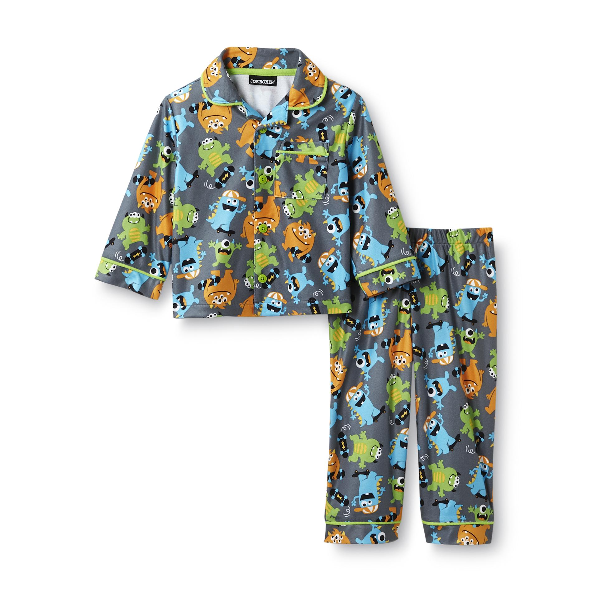 Infant & Toddler Boy's Flannel Pajamas - Monsters