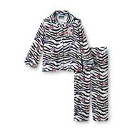Joe Boxer Toddler Girl's Flannel Pajamas - Zebra Striped at Kmart.com