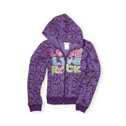 Piper Girl's Glittered Hoodie Jacket - Snakeskin Print at Kmart.com