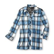 Bongo Junior's Lace Yoke Blouse - Plaid at Sears.com