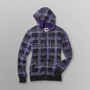 Hoodie Buddie Men's Fleece Hoodie Jacket & Earbuds - Plaid at Kmart.com
