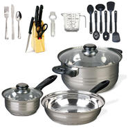 Gibson 32 pc Cookware Combo Set, Mirror Polished, Bakelite Hdle, Encapsulated, S.S. at Kmart.com