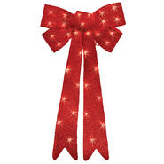 Trim A Home® 48in Red Lighted Tinsel Bow Christmas Decoration at Kmart.com
