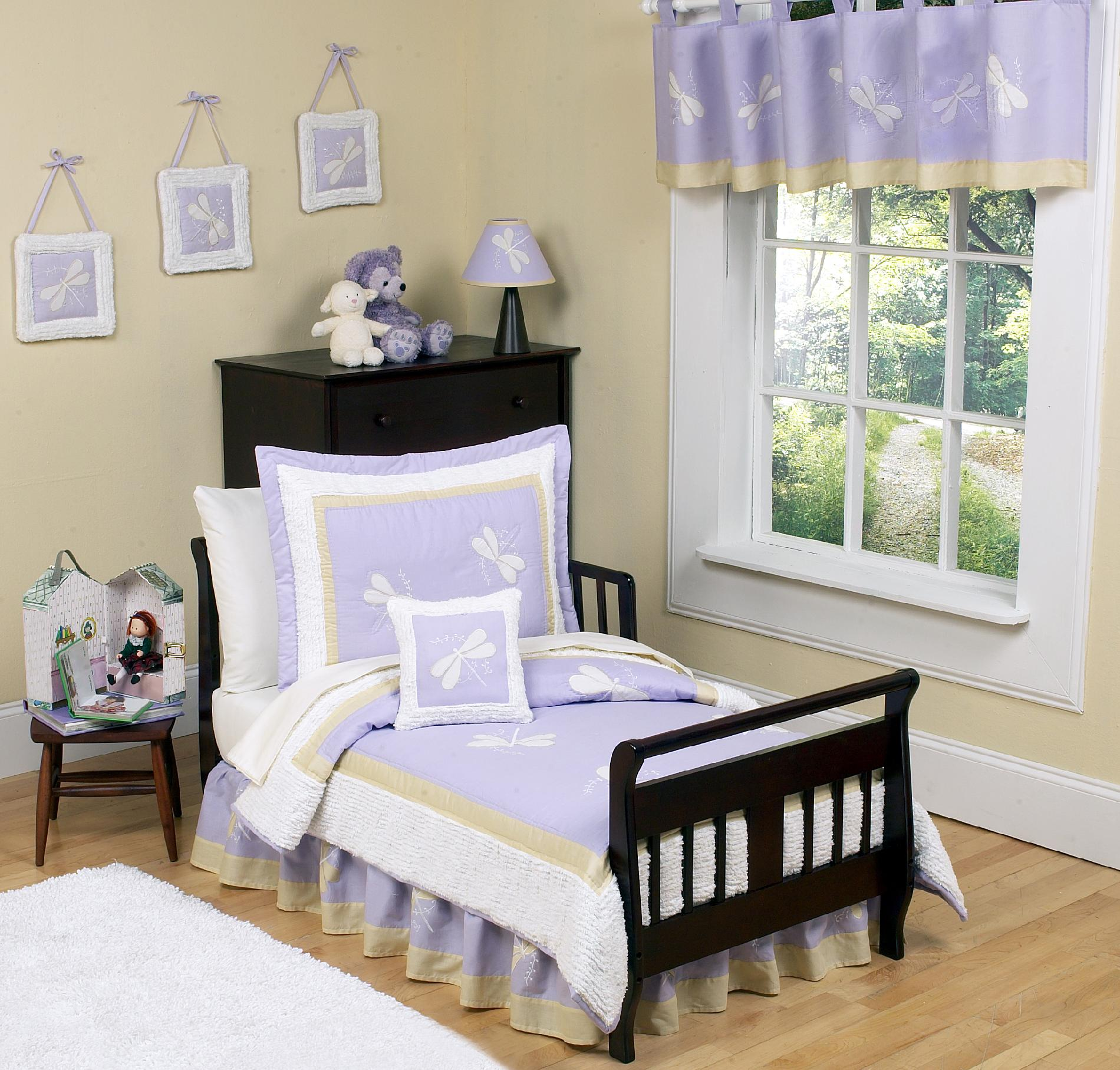 Sweet Jojo Designs Purple Dragonfly Dreams Collection 5pc Toddler Bedding Set