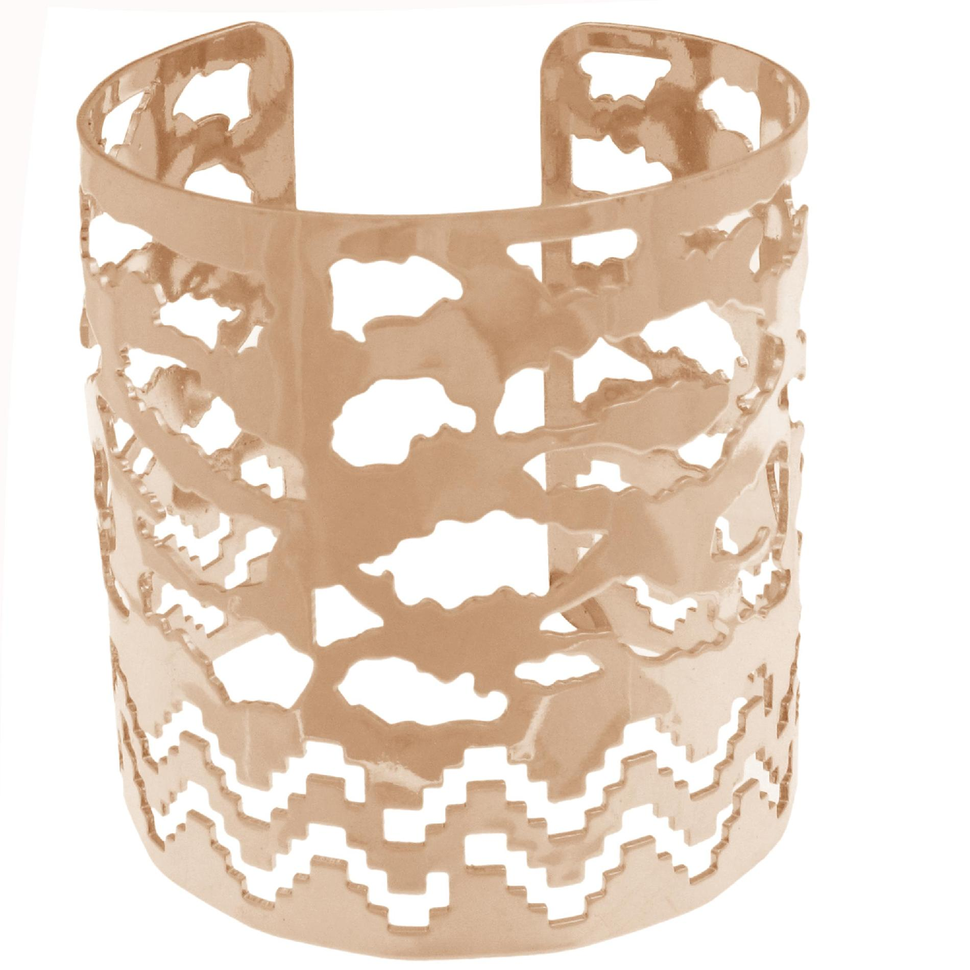 Junior's Filigree Cuff Bracelet - Rose Goldtone