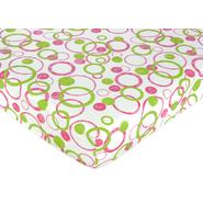 Sweet Jojo Designs Circles Pink Collection Fitted Crib Sheet - Circles Print at Kmart.com