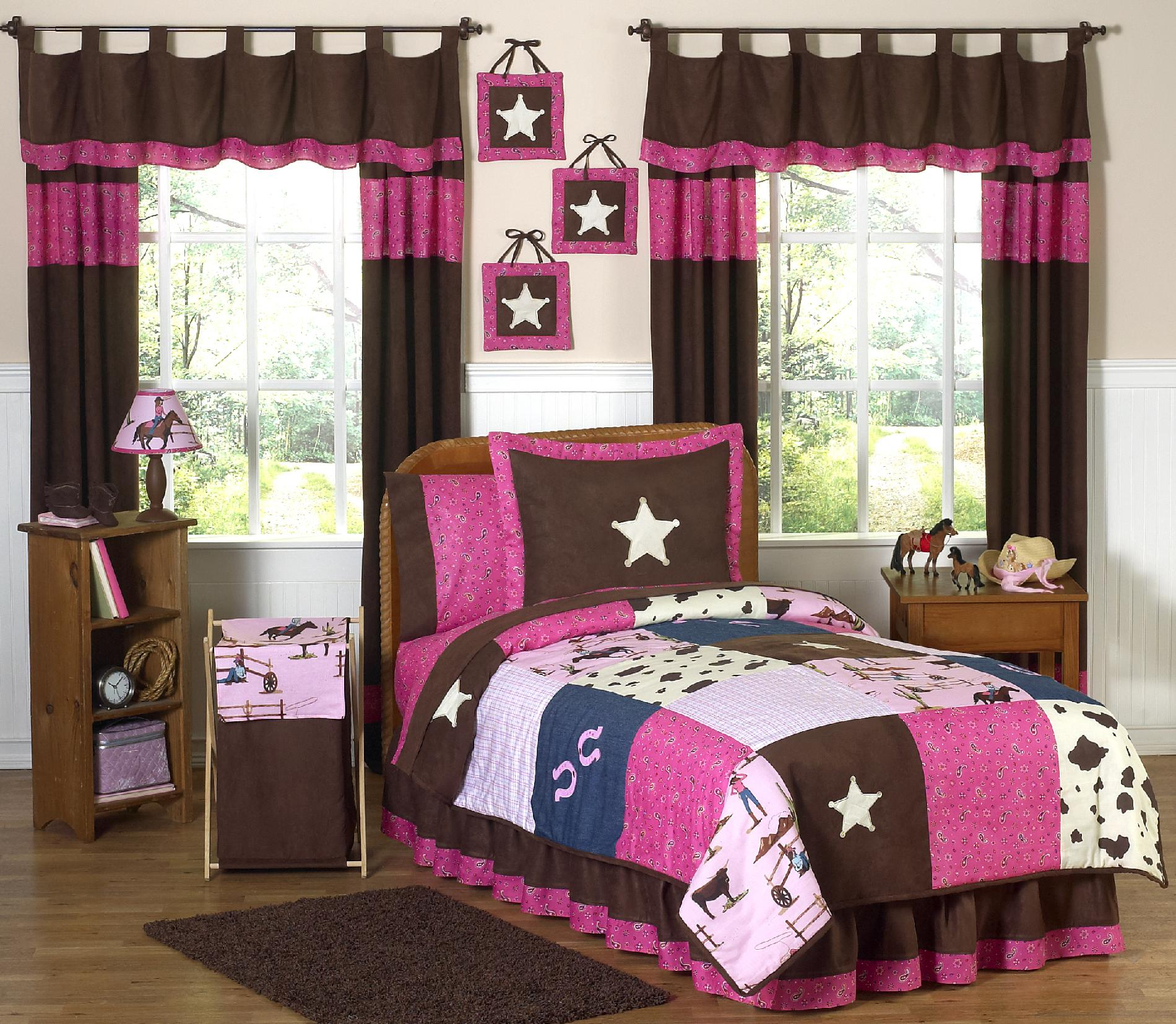 Sweet Jojo Designs Cowgirl Collection 3pc Full/Queen Bedding Set