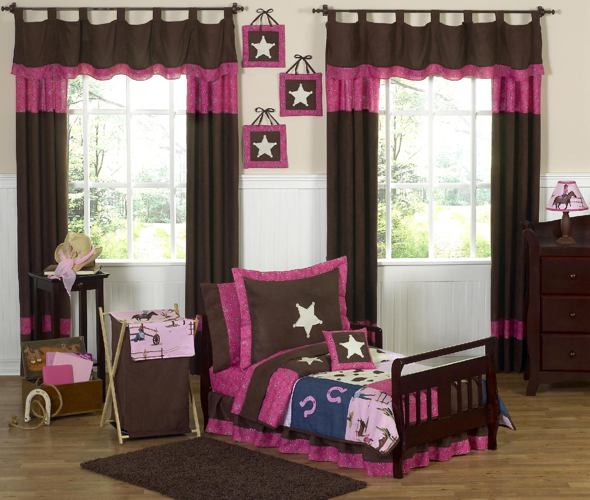 Sweet Jojo Designs Cowgirl Collection 5pc Toddler Bedding Set
