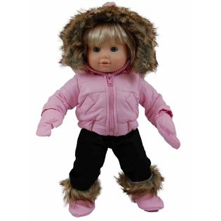 "The Queen's Treasures Pink Snow Suit Outfit for 15"" American Girl® Bitty Baby"