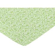 Sweet Jojo Designs Olivia Collection Fitted Crib Sheet - Scroll Print at Kmart.com