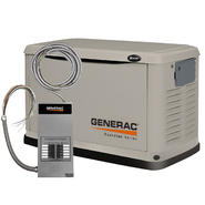 Generac Guardian Series Air-Cooled 8 kW (LP) / 7 kW (NG) Standby Generator with 50 Amp Transfer Switch at Sears.com