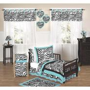 Sweet Jojo Designs Zebra Turquoise Collection 5pc Toddler Bedding Set at Kmart.com