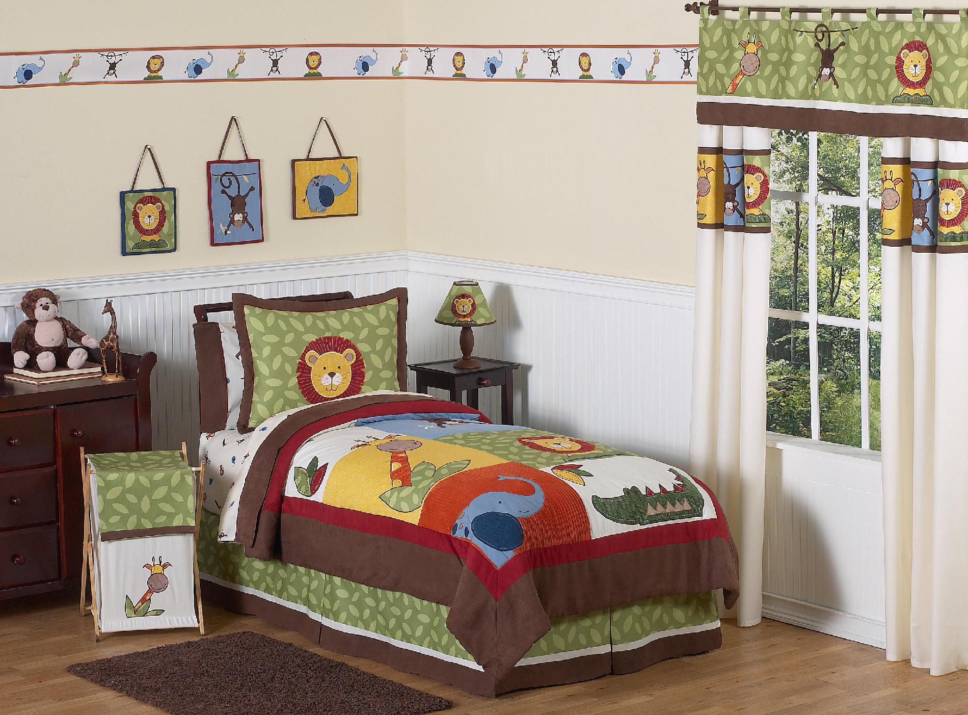 Sweet Jojo Designs Jungle Time Collection 3pc Full/Queen Bedding Set