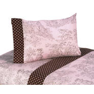 Sweet Jojo Designs Pink and Brown Toile Collection Sheet Set at Kmart.com