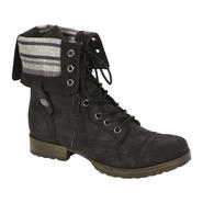 Bongo Women's Tracey Mid-calf Black Lace Up Boots at Kmart.com