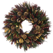 The Christmas Tree Company 22 In. Golden Spruce Dried Floral Wreath at Kmart.com