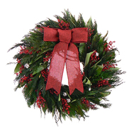 The Christmas Tree Company 18 In. Jolly Jingle Dried Floral Wreath at Kmart.com
