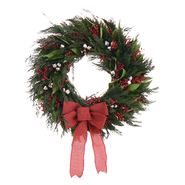 The Christmas Tree Company 22 In. Jolly Jingle Dried Floral Wreath at Kmart.com