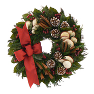 The Christmas Tree Company 18 In. Apple Cinnamon Cheer Dried Floral Wreath at Kmart.com
