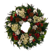 The Christmas Tree Company 18 In Merry Tidings Dried Floral Wreath at Kmart.com