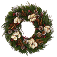 The Christmas Tree Company 22 In. Apple Cinnamon Cheer Dried Floral Wreath at Kmart.com