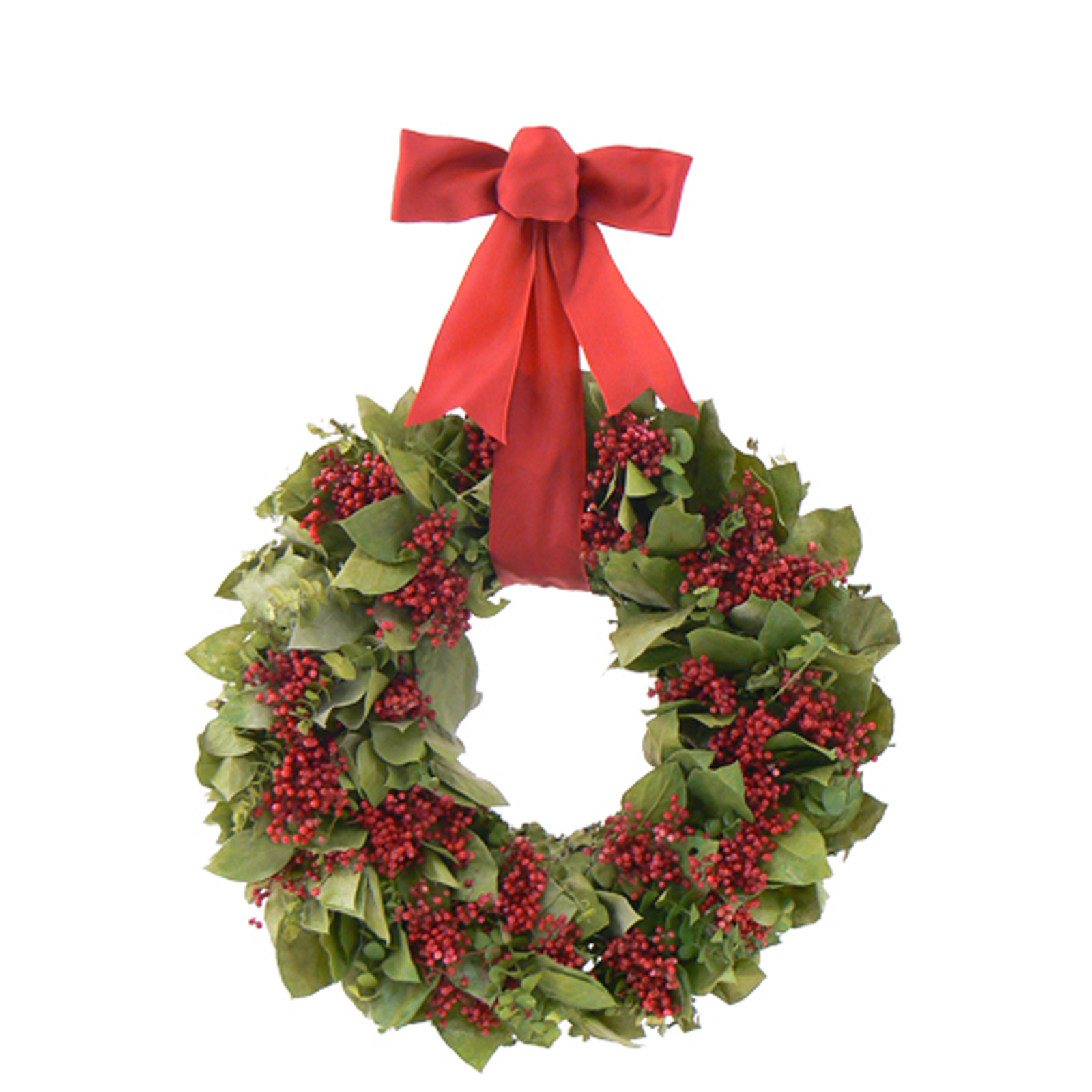 The Christmas Tree Company  18 In. Crimson Christmas Dried Floral Wreath