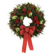 The Christmas Tree Company 22 In. Yuletide Roses Dried Floral Wreath at Kmart.com