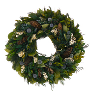 The Christmas Tree Company 22 In. Pinecone and Thistle Dried Floral Wreath at Kmart.com