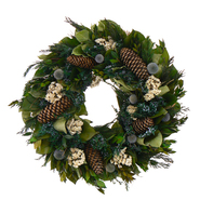 The Christmas Tree Company 18 In. Pinecone and Thistle Dried Floral Wreath at Kmart.com