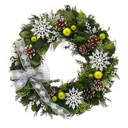 The Christmas Tree Company 18 In. Snowflakes and Green Dried Floral Wreath at Kmart.com