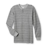 Basic Editions Men's Thermal Henley Shirt - Striped at Kmart.com